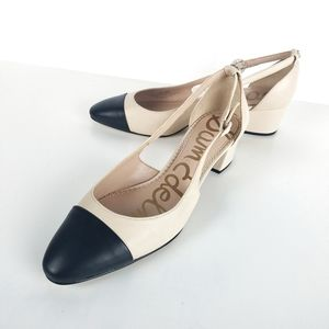 Sam Edelman Womens 9.5 Leah Cap Toe Pumps